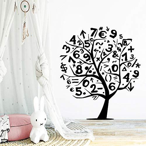 Tianpengyuanshuai Digitale Baum wasserdichte Wandaufkleber Hauptdekoration Kinderzimmer Vinyl Aufkleber 58X63cm