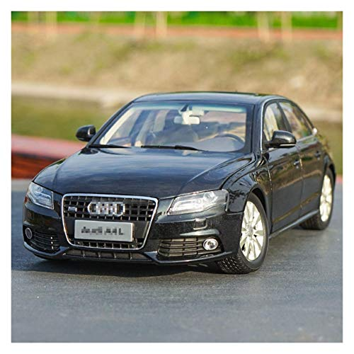 BECCYYLY Diecast Model Car 1/18 Aleación Diecast Metal Model Car 2010 para A4L para Audi Toy Diecast Vehicle Black For Kids Regalo Colección Caja Original wmpa