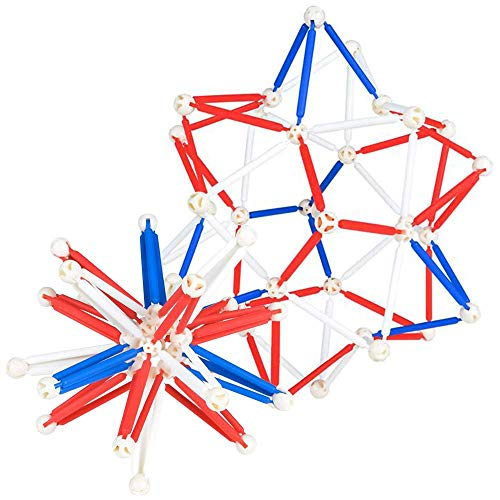 ArtCreativity Patriotic Expandable Ball Toy, 1 Expanding Mini Sphere for Kids and Adults, Stress Relief Fidget Toy for ADHD, Anxiety, Red, White, and Blue Party Favors for 4th of July