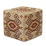 iinfinize - Funda para puf de estilo indio otomano para decoración del hogar, funda para puf de Kilim