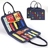 BOXYUEIN Jeux Montessori 1 2 3 4 Ans, Busy Board Montessori Jouet Fille 1 2 3 4 Ans Cadeau Fille 1-4 Ans Jouet Educatif Jeux Fille 1-4 Ans Nouveaux Jouets pour Fille Cadeaux de Noël Enfants 2021