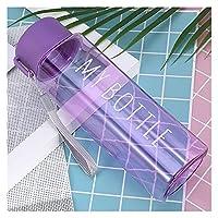 ウォーターカップ 600/800ミリリットル大容量スポーツウォーターカップ男性女性夏屋外携帯用プラスチックウォーターボトルコーヒージュースカップウォーターボトル (Capacity : 600ml, Color : Type 3 500ml purple)