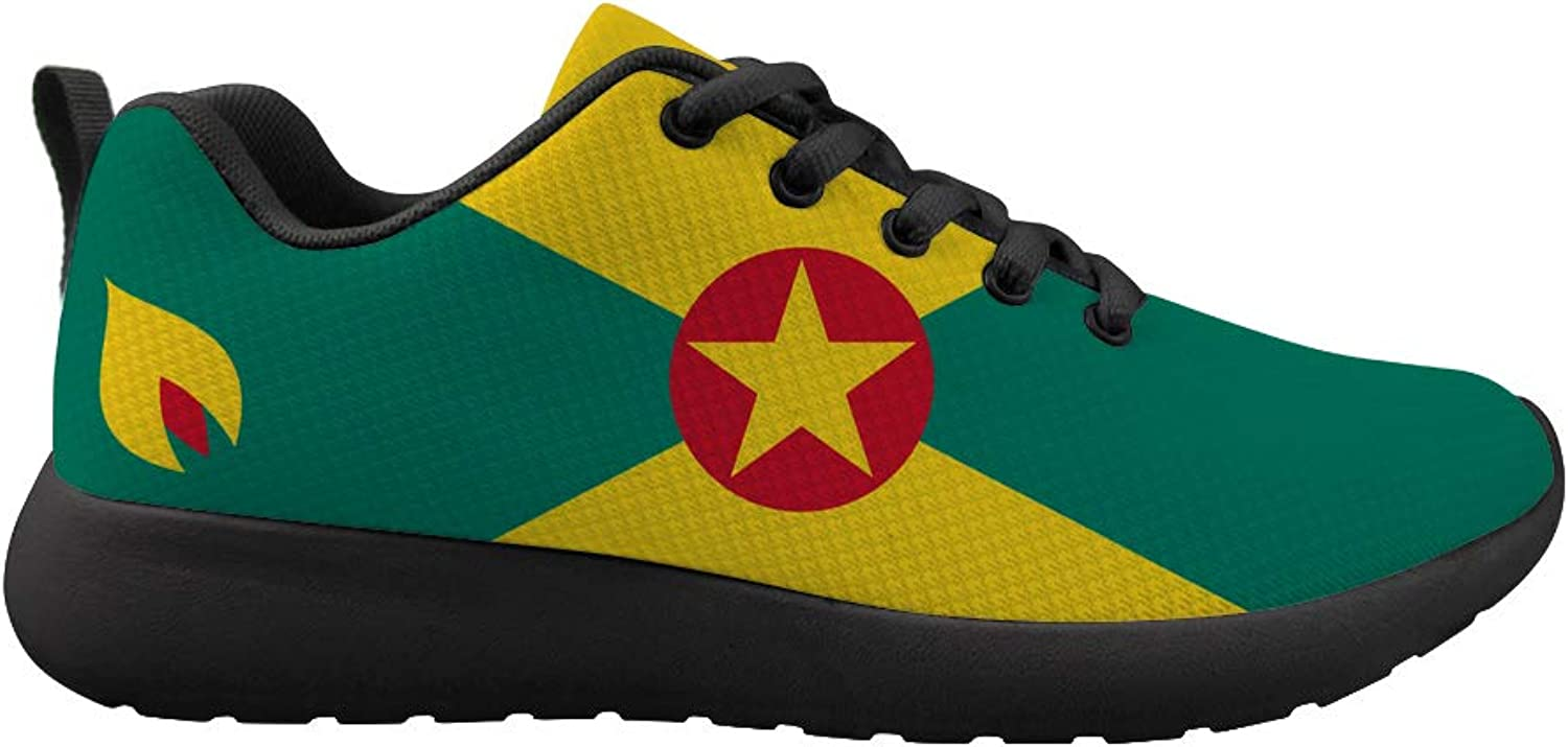 Owaheson Cushioning Sneaker Trail Running shoes Mens Womens Grenada Flag