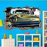 SJXWOL Wandtattoos Auto Wandtattoos 3D Art Room Office Shop Dekoration 56x65cm