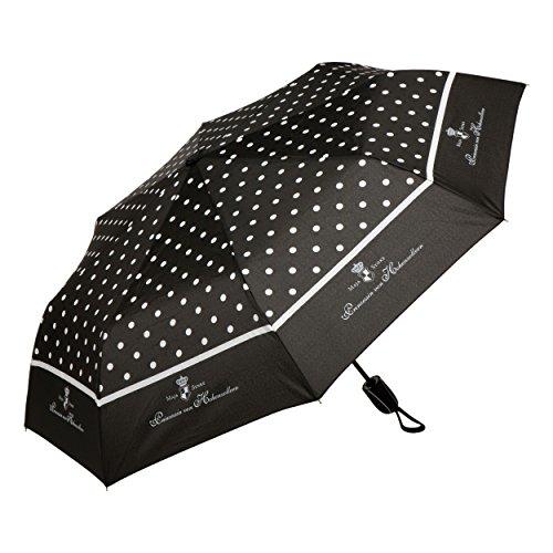 Preisvergleich Produktbild Goebel Château Schwarz-Weiß Dots Taschenschirm,  Stockschirm,  Regenschirm,  Regen Schirm,  Maja Prinzessin Von Hohenzollern,  Polyester,  24 cm,  27050521