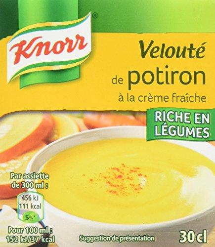 Knorr Velouté de potiron à la crème fraîche - La brique de 30cl