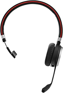 Jabra Evolve 65 Wireless Mono On-Ear Headset – Unified Communications Optimised Headphones With Long-Lasting Battery – USB...