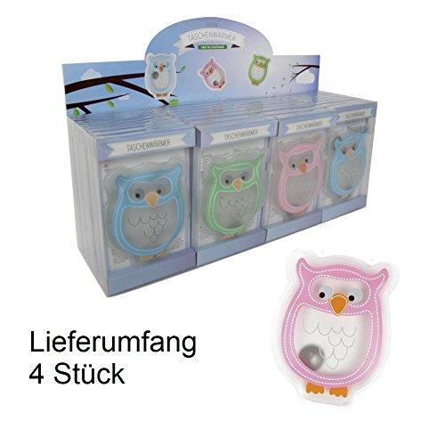 Handwärmer Taschenwärmer Eule Owl 4er Set
