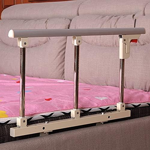 GLP Barra de cama para ancianos, plegable para adultos con mango de seguridad plegable para la cabecera para el cuidado del hospital en el hogar (color: plata)