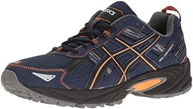 ASICS Men's Gel-Venture 5 Trail Runner, Indigo Blue/Hot Orange/Black, 10 M US