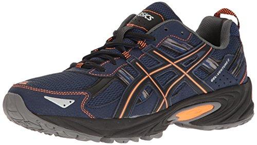 ASICS Men's Gel-Venture 5 Trail Runner, Indigo Blue/Hot Orange/Black, 10.5 M US