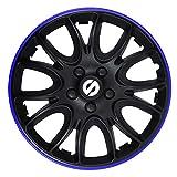 SPARCO SPC1494BKBL Jeu d'enjoliveurs Veneto 14-inch Noir/Bleu