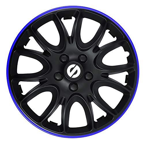SPARCO SPC1694BKBL Jeu d'enjoliveurs Veneto 16-inch Noir/Bleu