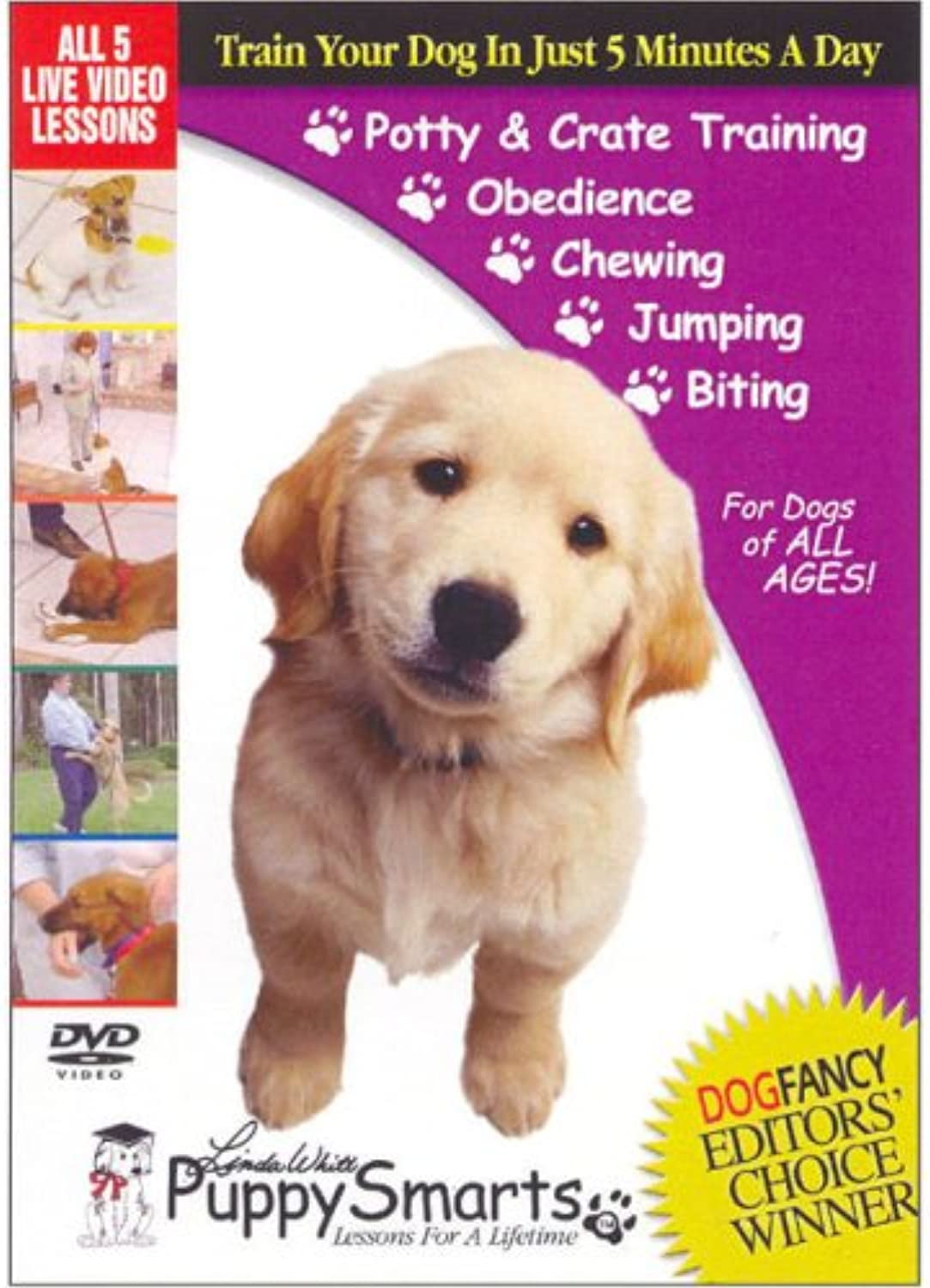 PUPPY SMARTS ALL 5 LESSONS ON VHS by PuppySmarts