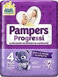 Pampers Progressi Maxi, 22 Pannolini, Taglia 4 (7-18 Kg)