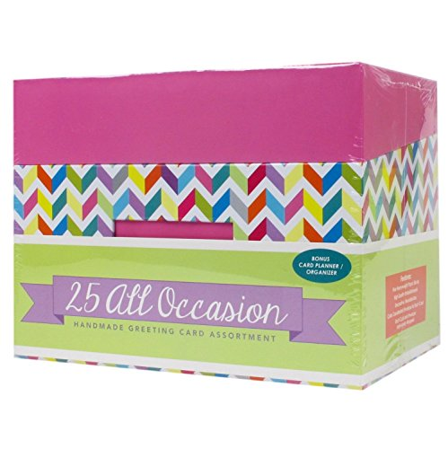 Paper Magic All Occasion Handmade Greeting Card Assortment in Keepsake Organizer Box, 25 Cards