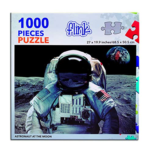 FLINK Astronaut at The Moon Jigsaw Puzzle 1000 Pieces
