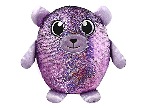 "SHIMMEEZ, Large Size Benjie Bear, Sequin Plush Stuffed Animal, 14"", 3.5"""