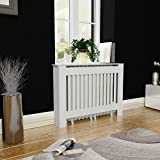 Tidyard MDF Radiator Cover Heating Cabinet, White, 44'