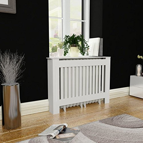 "Tidyard MDF Radiator Cover Heating Cabinet White for Home Decorative (44"")"