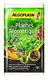 ALGOFLASH Sac de Terreau Plantes Aromatiques, Tomates et Légumes en pot, Utilisable en agriculture biologique, 6 L, ATAROM6