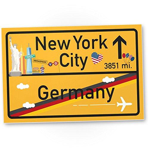 DankeDir! New York City Kunststoff Schild Geschenk für sie - New York Amerika Reise süße Deko NYC Fans Wanddeko Türschild Mädchen Wohnung Geschenkidee Geburtstagsgeschenk Freundin Party Deko
