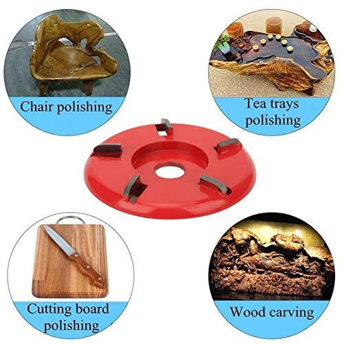 Holzschneidscheibe Legierter Stahl Einfach zu verwendende, praktische Schnitzklinge zum Schnitzen und Polieren(red)