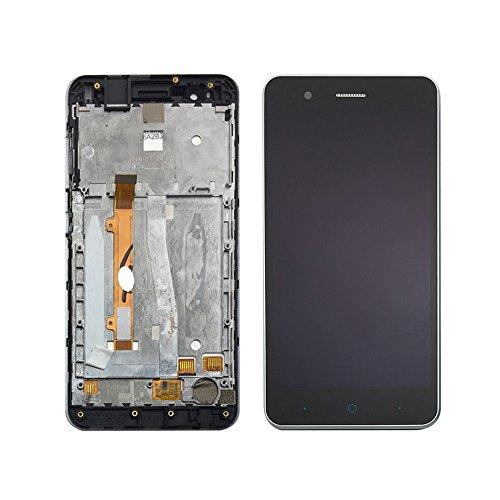 JayTong - visualización LCD y digitalizador de visualización táctil de Repuesto para ZTE Blade A510 BA510 BA510C 5.0 Negro con Marco