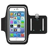 Sportarmband Hülle, Armtasche Hülle Oberarmtasche mit Schlüsselhalter, Kabelfach, Anti Rutsch Fitness Armband Handy-Lauf-Tasche Running-Hülle für iPhone 6 plus/ 7plus, Samsung Galaxy S7/ S6/ S5, 5.5