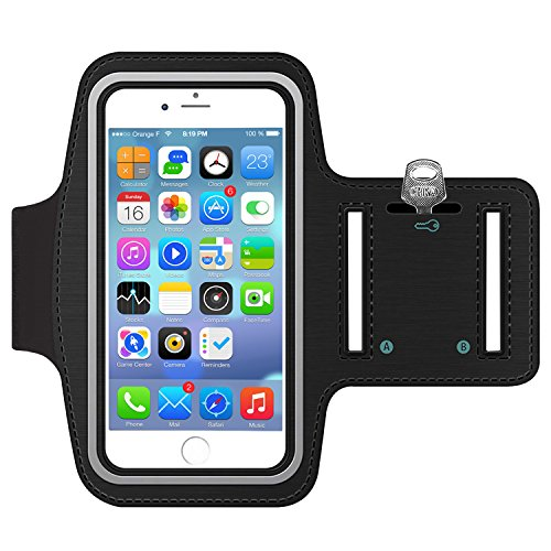 Sportarmband Hülle, Armtasche Hülle Oberarmtasche mit Schlüsselhalter, Kabelfach, Anti Rutsch Fitness Armband Handy-Lauf-Tasche Running-Case für iPhone 6 plus/ 7plus, Samsung Galaxy S7/ S6/ S5, 5.5