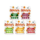 Whisps Cheese Crisps 5-Flavor Variety Pack | Tomato Basil, Barbeque, Parmesan, Cheddar, Asiago & Pepper Jack | Keto Snack, Gluten Free, Low Sugar, Low Carb, High Protein | 2.12oz (5 Pack)
