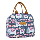 Idle Hippo Insulated Lunch Bags for Women Cooler Tote Bag with Front Pocket