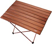 ZHAS Folding table outdoor grill  small portable aluminum table  tea coffee tables for dining the garden  size  68 5 46 5 cm
