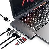 Satechi Type-C アルミニウム Proハブ Macbook Pro 13/15インチ対応 40Gbs Thunderbolt 3 4K HDMI Micro/SDカード USB 3.0ポート×2 マルチ USB ハブ (スペースグレイ)