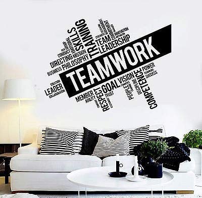 Hllhpc Vinyl Sticker Inspirational Lavoro van Squadra Successo kantoor muur Decor Sticker DIY Studio Unico DIY Design 78 x 57 cm