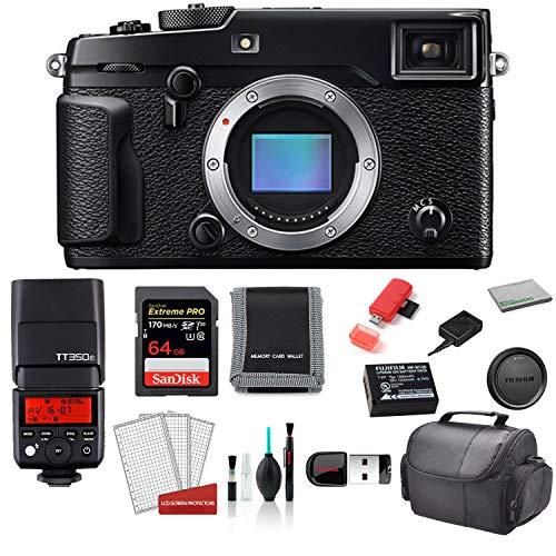 FUJIFILM X-Pro2 Mirrorless Digital Camera Body Only - Kit with TT350F Mini TTL Flash + More