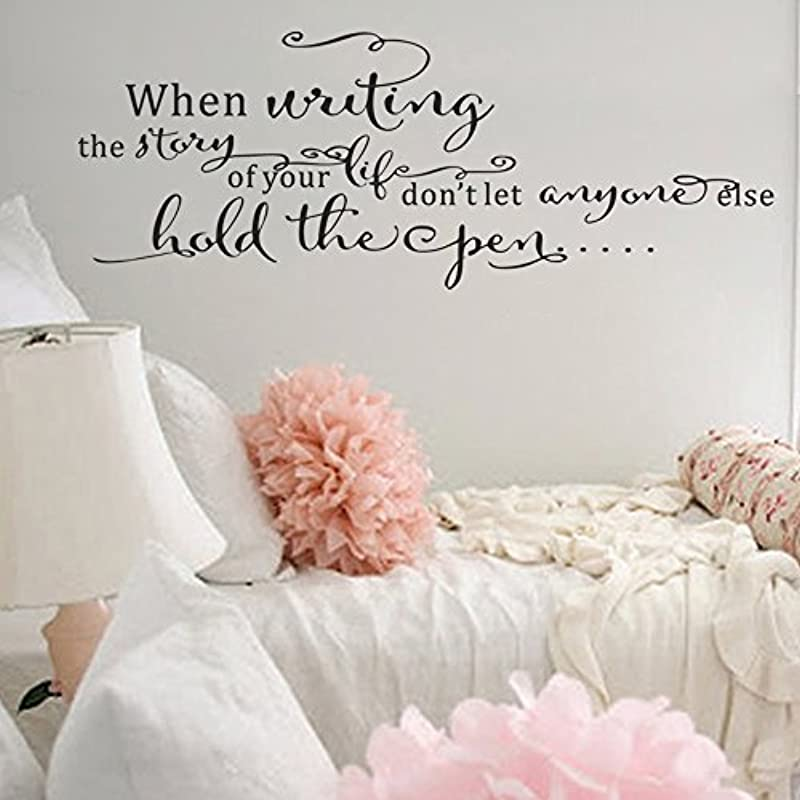 Wall Decal Decor When Writing The Story Of Your Life Don T Let Anyone Else Hold The Open Inspiring Nursery Wall Words Kids Room Wall Quote Decal Black 8 2 H X22 W