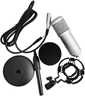 BM-800 Condenser Microphone Portable High Sensitivity Low Noise Mic Kit for Computer Mobile Phone Studio Live Stream Broad...