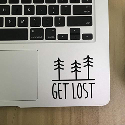 GVFTG Boom Sticker Get Lost Vinyl Sticker Auto Raam Bumper Decoratie, Natuurliefhebbers Laptop Sticker voor Apple Macbook Air/Pro Decoratie 20X20cm