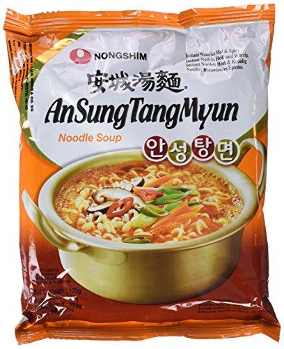 Nong Shim Instant Noodles Ansungtangmyun - Paquete de 20 x 125 gr - Total: 2500 gr