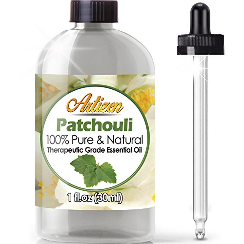 Artizen Patchouli Essential Oil (100% Pure & Natural - Undiluted) Therapeutic Grade - Huge 1oz Bottle - Perfect for Aromatherapy, Relaxation, Skin Therapy & More!