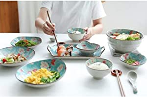 HouseholdCeramic Dinnerware Set Plate Bowl Plate And Chop Combination Dish Set Perfect Gift