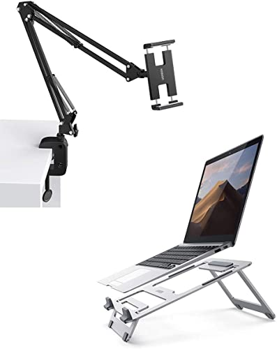 popular UGREEN Tablet Mount Lazy Holder Adjustable with 2021 Laptop Stand Bundle Compatible for iPad Air Pro Mini, iPhone wholesale 11 Pro Max SE X 8 7 6 6S, Samsung Galaxy S9 Plus S8, Nintendo Switch outlet online sale