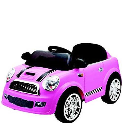 gkt Auto elettrica 12 Volt mini cooper per bambini con telecomando. Macchine elettriche colore rosa 1 posto per bambine con radiocomando.