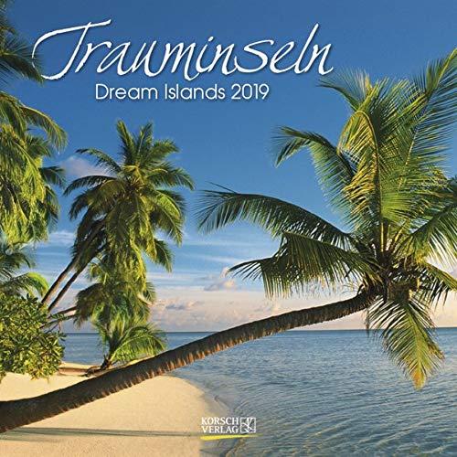 Trauminseln (BK) 226819 2019: Broschürenkalender mit Ferienterminen. Format: 30 x 30 cm