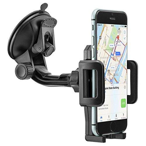 MidGard Universal 360° drehbar Saugnapf Armaturenbrett Handy Autohalterung für Handy, Smartphone, Phablet, Navigationsgeräte usw.