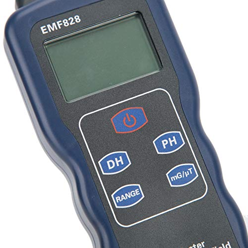 Medidor de fuerza de campo magnético, probador de radiación electromagnética, pantalla LCD de mano de alta precisión 30Hz ~ 400Hz para TV con cable de alimentación