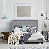 FURINNO Laval Bed Frame, Twin, Glacier