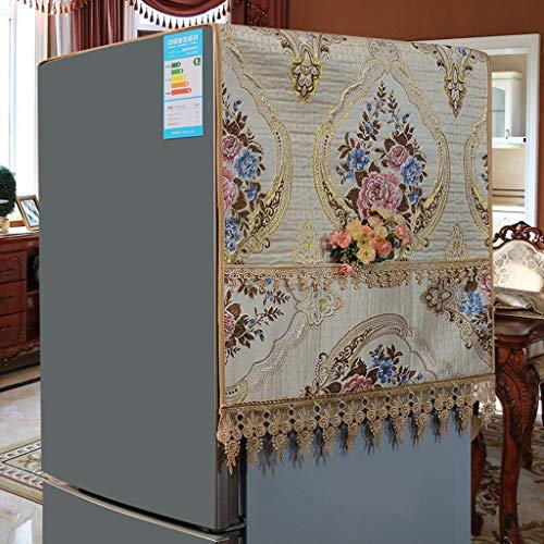 MENUDOWN Kühlschrank Staubschutz,Retro Kühlschrank Staubdichtes Tuch/Antifouling Geeignet für Mikrowellenherd, Ofen, Einzel- / Doppeltürkühlschrank, Waschmaschine,A-50 * 140cm