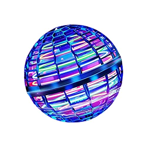 MSLing Giocattoli volanti, giocattoli a sfera volante Controller magico a forma di globo Mini drone, Spinner di luci RGB integrato Rotante a 360 ° UFO rotante Sicuro